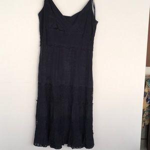 Ann Taylor Navy Lace Sun Dress